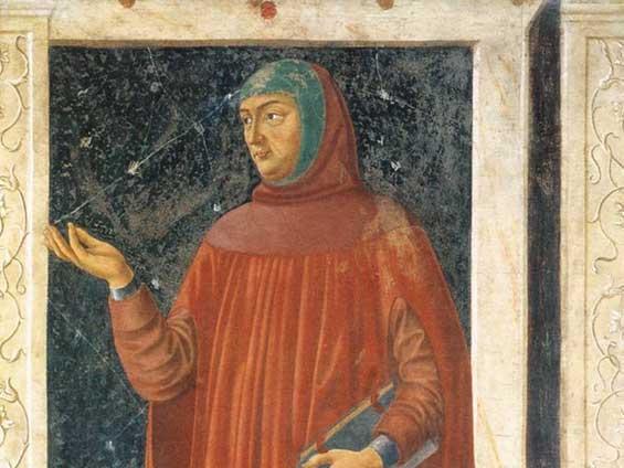 15世紀に描かれたペトラルカの肖像