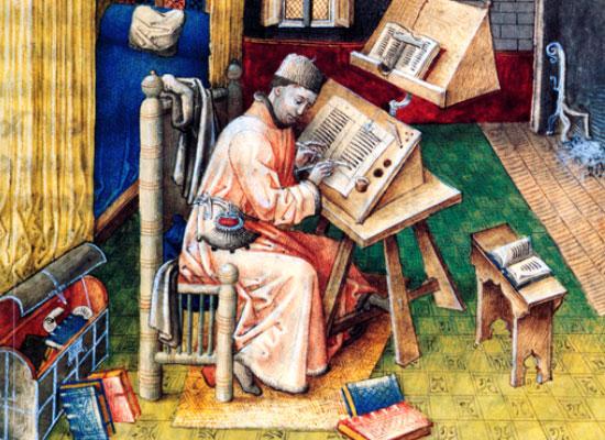 書斎のジャン・ミエロ