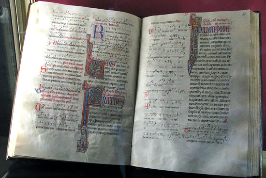ヨーロッパ各地に残る古い書籍