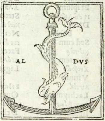 アルド・マヌーツィオが1502年から使用した商標