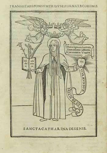 イタリック体を使用して出版されたシエナの聖カタリナに関する書籍