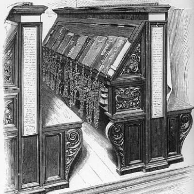フィレンツェにあるラウレンツィアーナ図書館のかつての様子