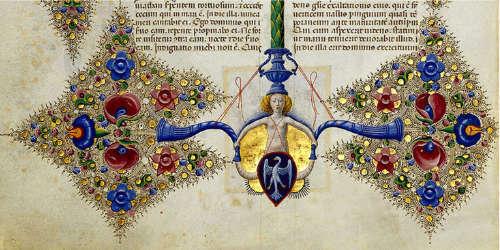 聖書内に描かれたエステ家の紋章